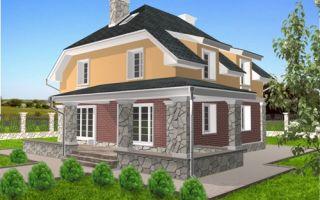 Проект мансардного дома 174 кв.м — 103-174