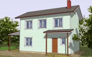 Проект двухэтажного дома 73 кв.м — 105-073