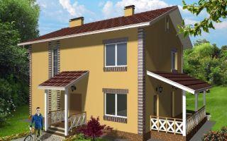 Проект двухэтажного дома 138 кв.м — 101-138