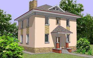 Проект двухэтажного дома 130 кв.м. — 107-130