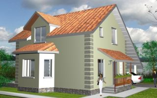 Проект дома с мансардой 117 кв.м — 101-117
