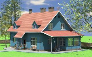 Проект мансардного дома 235 кв.м — 101-235