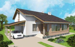 Проект дома с мансардой 121 кв.м — 105-121