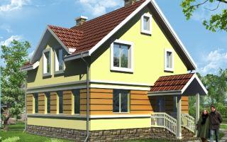 Проект дома с мансардой 113 кв.м — 101-113