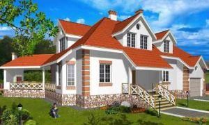 Проект мансардного дома 350 кв.м — 101-350