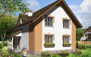 Проект мансардного дома 152 кв.м — 102-152
