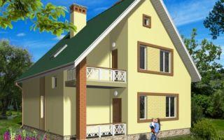 Проект мансардного дома 132 кв.м — 101-132