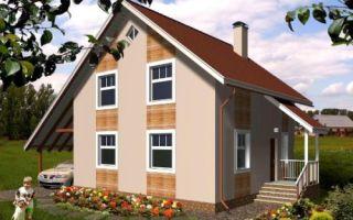 Проект дома с мансардой 110 кв.м — 102-110