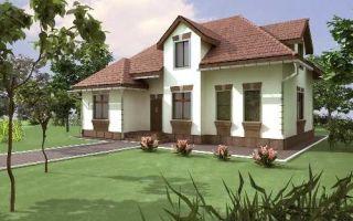 Проект мансардного дома 185 кв.м — 103-185