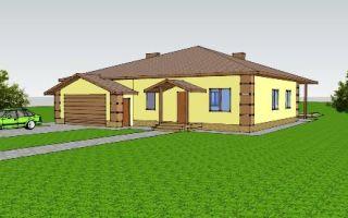 Проект одноэтажного дома 166 кв.м — 101-166