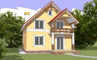 Проект мансардного дома 134 кв.м — 101-134