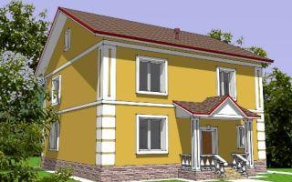 Проект двухэтажного дома 187 кв.м — 102-187