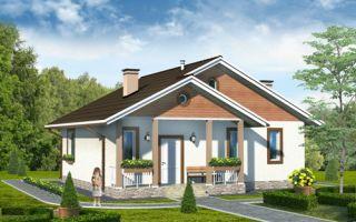 Проект одноэтажного дома 75 кв.м — 101-075