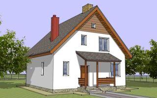 Проект дома с мансардой 112 кв.м — 104-112