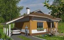Проект одноэтажного дома 65 кв.м — 101-065