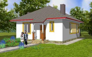 Проект одноэтажного дома 69 кв.м — 103-069