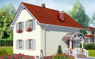 Проект мансардного дома 96 кв.м — 101-096