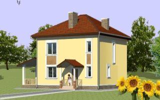 Проект двухэтажного дома 117 кв.м — 102-117