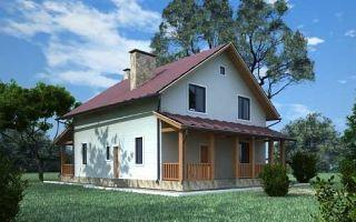 Проект мансардного дома 169 кв.м — 102-169