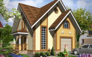 Проект мансардного дома 66 кв.м — 102-066