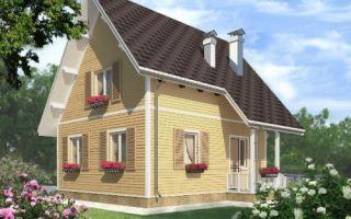 Проект мансардного дома 84 кв.м. — 101-084