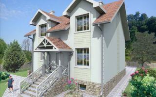 Проект мансардного дома 202 кв.м — 101-202