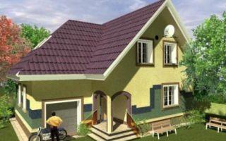 Проект мансардного дома 181 кв.м — 102-181