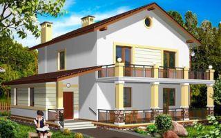 Проект двухэтажного дома 174 кв.м — 104-174
