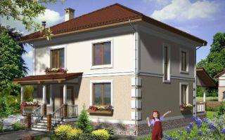 Проект двухэтажного дома 156 кв.м — 104-156