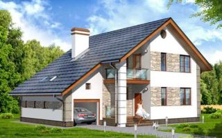 Проект мансардного дома 161 кв.м — 102-161