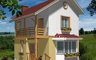 Проект двухэтажного дома 73 кв.м — 102-073
