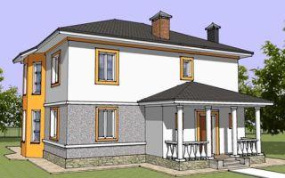 Проект двухэтажного дома 196 кв.м — 101-196