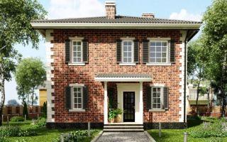 Проект двухэтажного дома 132 кв.м — 104-132