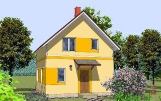 Проект мансардного дома 81 кв.м — 103-081