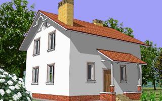 Проект мансардного дома 128 кв.м — 101-128