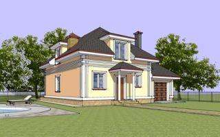 Проект мансардного дома 169 кв.м — 104-169