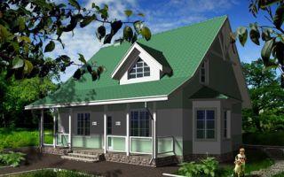 Проект дома с мансардой 135 кв.м — 104-135