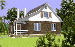 Проект дома с мансардой 126 кв.м — 102-126