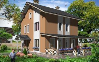 Проект двухэтажного дома 113 кв.м — 102-113