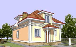 Проект мансардного дома 141 кв.м — 104-141