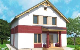 Проект дома с мансардой 110 кв.м — 104-110