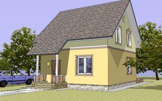 Проект мансардного дома 89 кв.м — 102-089