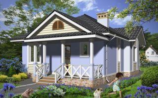 Проект одноэтажного дома 76 кв.м — 101-076