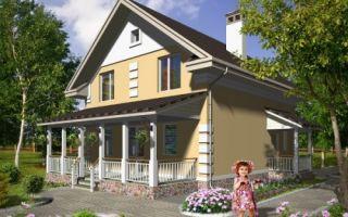 Проект дома с мансардой 112 кв.м — 102-112