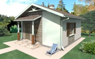 Проект одноэтажного дома 30 кв.м — 101-030