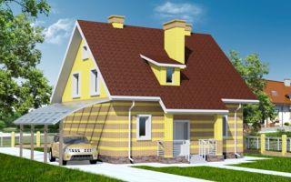 Проект мансардного дома 133 кв.м — 101-133
