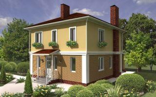 Проект двухэтажного дома 132 кв.м — 102-132