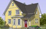 Проект мансардного дома 130 кв.м — 106-130