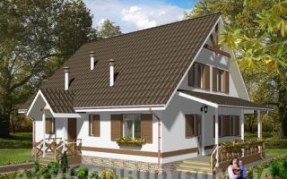 Проект мансардного дома 152 кв.м — 101-152