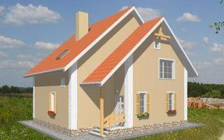 Проект мансардного дома 131 кв.м — 101-131